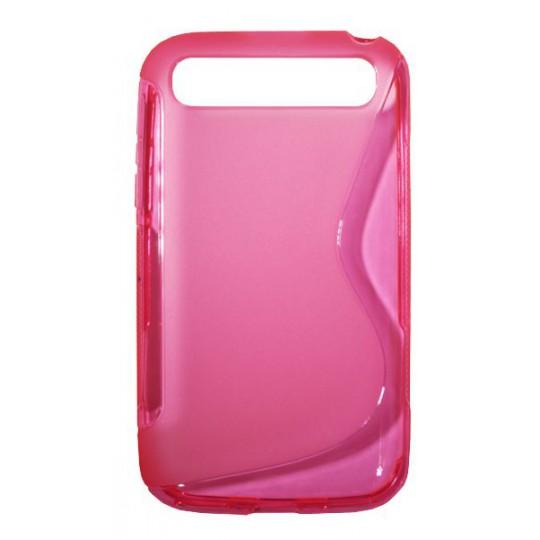 BlackBerry Classic/Q20 - Gumiran ovitek (TPU) - roza-prosojen SLine