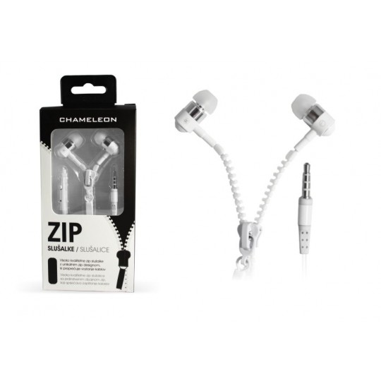 Chameleon 3.5 HI-FI stereo slušalke ZIP 2040 bele