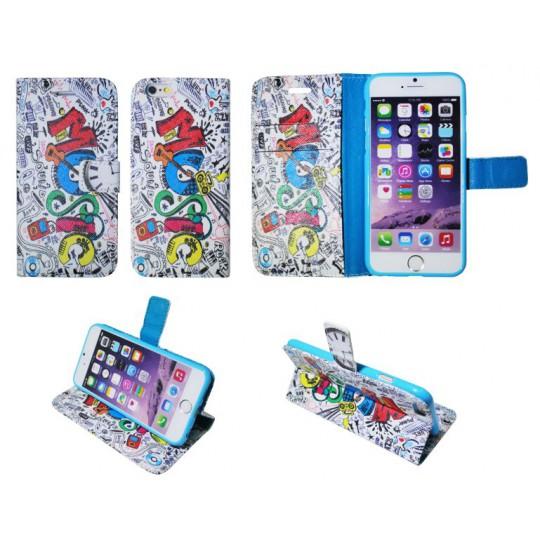 Apple iPhone 6/6S - Preklopna torbica (WLGP) - Music