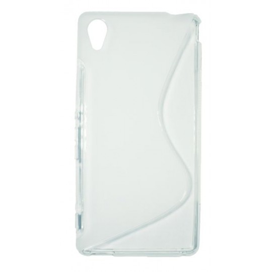 Sony Xperia M4 Aqua - Gumiran ovitek (TPU) - belo-prosojen SLine