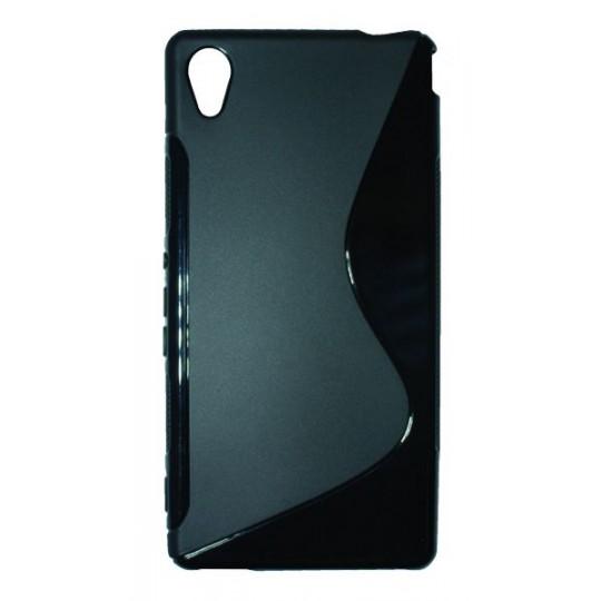 Sony Xperia M4 Aqua - Gumiran ovitek (TPU) - črn SLine