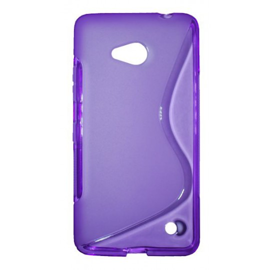 Microsoft Lumia 640 LTE - Gumiran ovitek (TPU) - vijolično-prosojen SLine