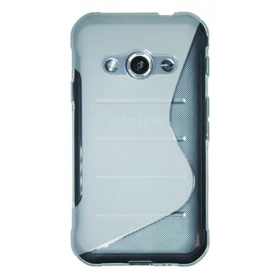 Samsung Galaxy Xcover 3 - Gumiran ovitek (TPU) - belo-prosojen SLine
