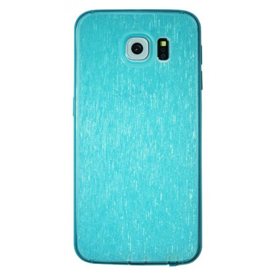 Samsung Galaxy S6 - Gumiran ovitek (21B) - moder