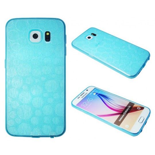 Samsung Galaxy S6 - Gumiran ovitek (21krogci) - moder