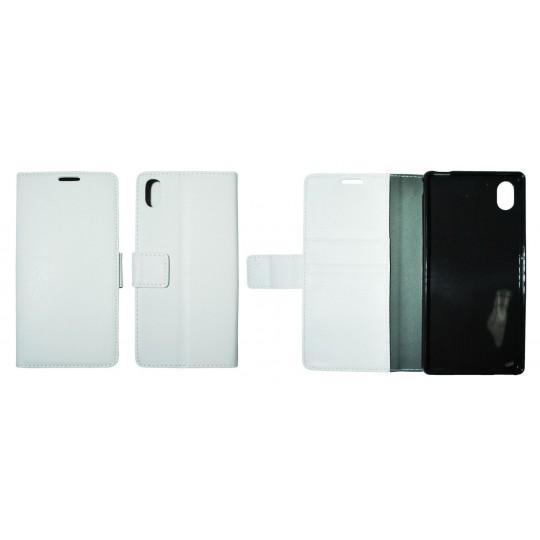 Sony Xperia M4 Aqua - Preklopna torbica (WLG) - bela