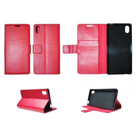 Sony Xperia M4 Aqua - Preklopna torbica (WLG) - rdeča