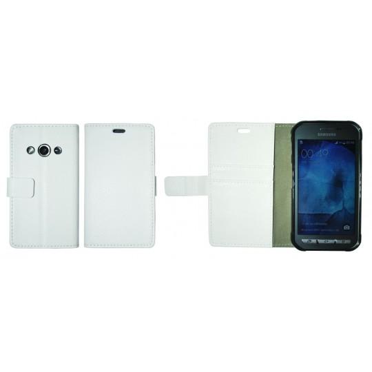 Samsung Galaxy Xcover 3 - Preklopna torbica (WLG) - bela