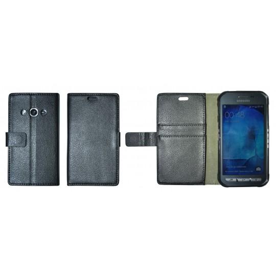 Samsung Galaxy Xcover 3 - Preklopna torbica (WLG) - črna