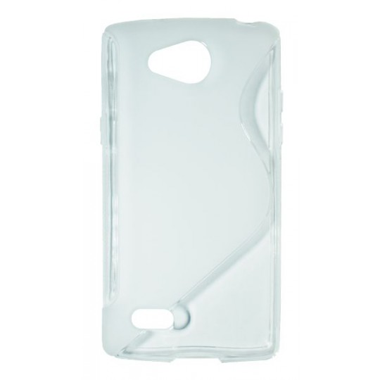LG Joy - Gumiran ovitek (TPU) - belo-prosojen SLine