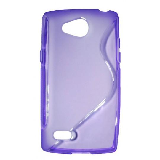 LG Joy - Gumiran ovitek (TPU) - vijolično-prosojen SLine