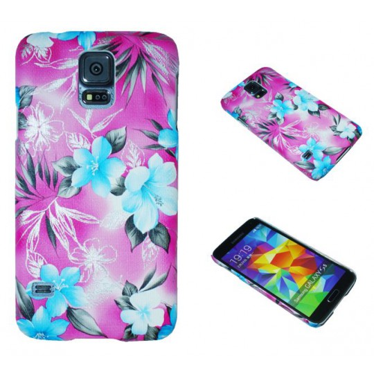 Samsung Galaxy S5/S5 Neo - Okrasni pokrovček (64P) - roza
