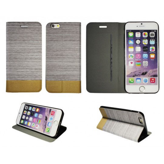Apple iPhone 6/6S - Preklopna torbica (67G) - bež