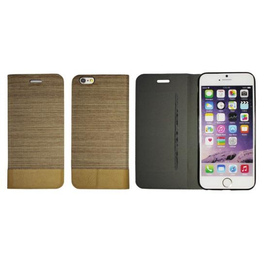 Apple iPhone 6/6S - Preklopna torbica (67G) - svetlo rjava