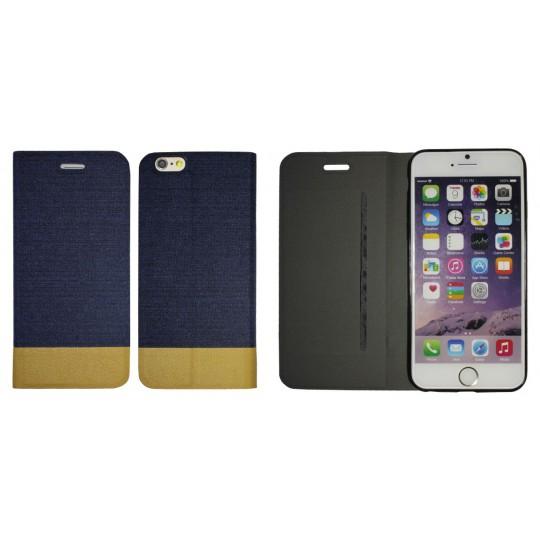 Apple iPhone 6/6S - Preklopna torbica (67G) - temno modra