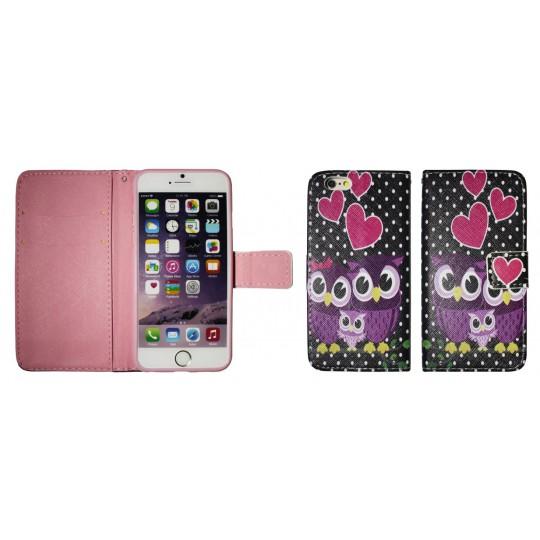 Apple iPhone 6/6S - Preklopna torbica (WLGP) - Night owls