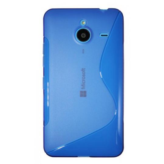 Microsoft Lumia 640 XL - Gumiran ovitek (TPU) - modro-prosojen SLine