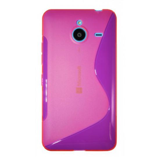 Microsoft Lumia 640 XL - Gumiran ovitek (TPU) - roza-prosojen SLine