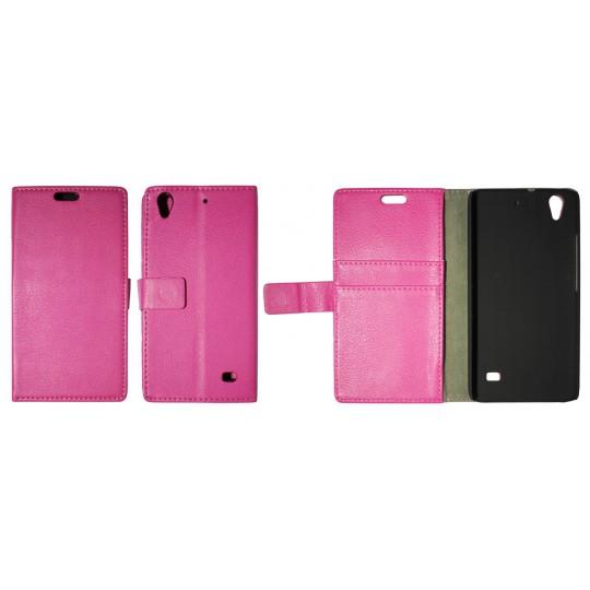 Huawei Ascend G620s - Preklopna torbica (WL) - roza