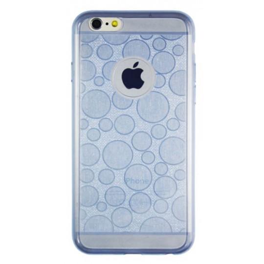 Apple iPhone 6/6S - Gumiran ovitek (21krogci) - moder