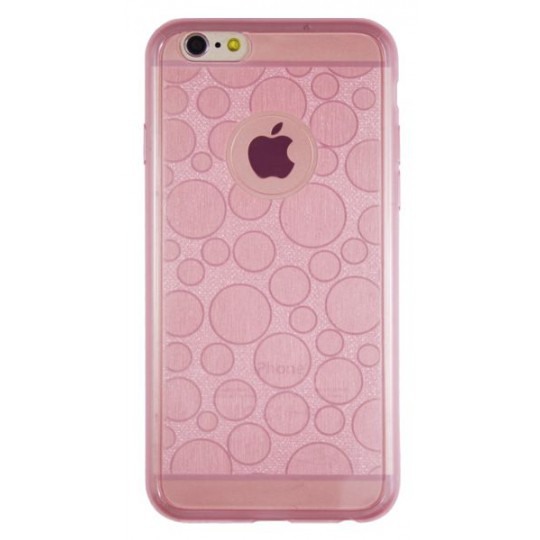 Apple iPhone 6/6S - Gumiran ovitek (21krogci) - roza