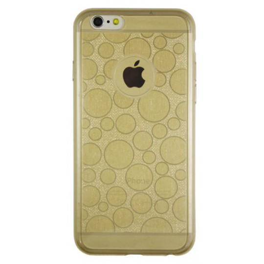 Apple iPhone 6/6S - Gumiran ovitek (21krogci) - zlat