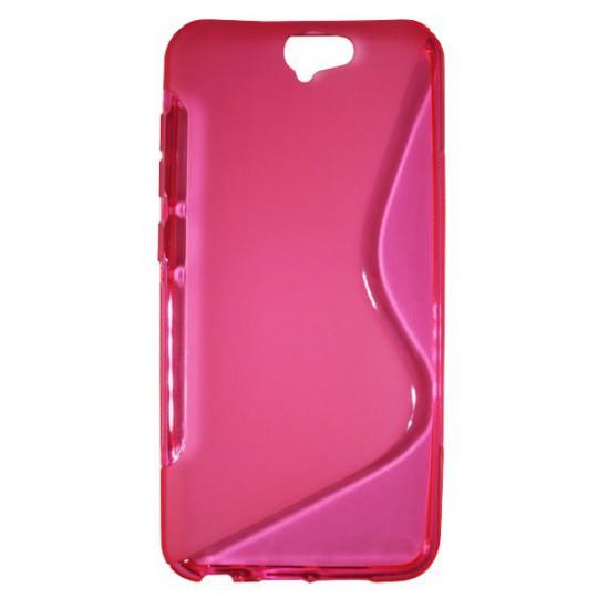 HTC One A9 - Gumiran ovitek (TPU) - roza-prosojen SLine