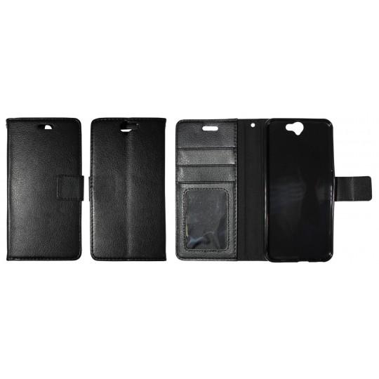 HTC One A9 - Preklopna torbica (WLG) - črna