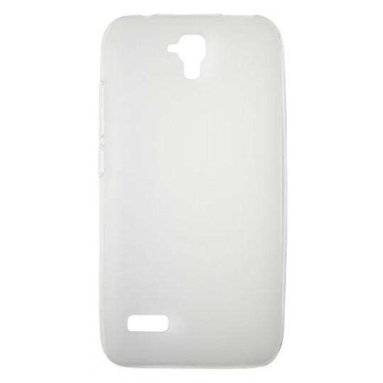 Huawei Y5 - Gumiran ovitek (TPU) - belo-prosojen mat