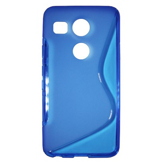 LG Nexus 5X - Gumiran ovitek (TPU) - modro-prosojen SLine