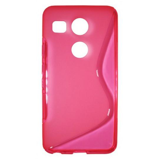 LG Nexus 5X - Gumiran ovitek (TPU) - roza-prosojen SLine