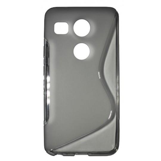 LG Nexus 5X - Gumiran ovitek (TPU) - sivo-prosojen SLine