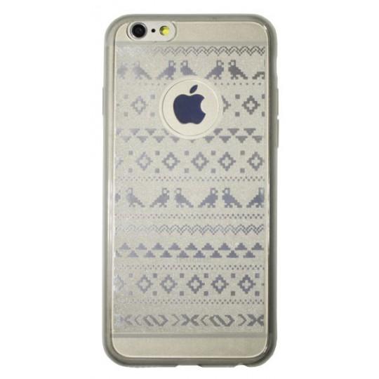 Apple iPhone 6/6S - Gumiran ovitek (21vzorec) - bel