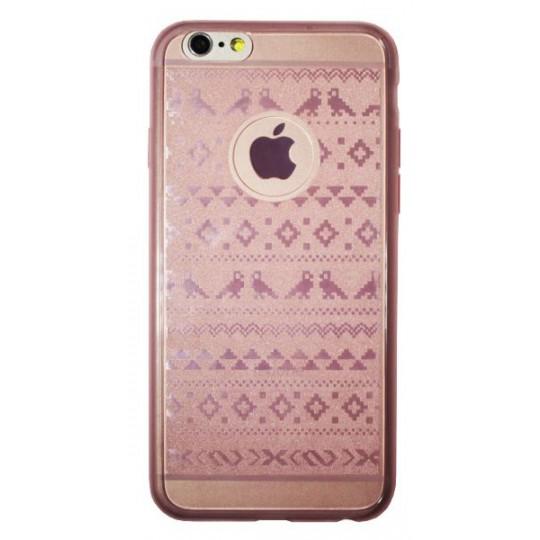 Apple iPhone 6/6S - Gumiran ovitek (21vzorec) - roza