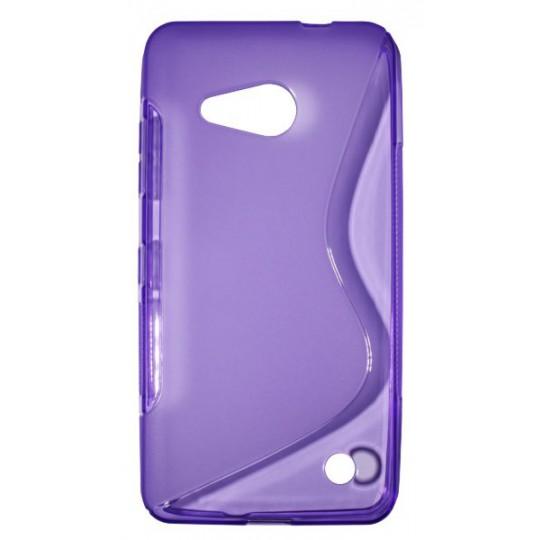 Microsoft Lumia 550 - Gumiran ovitek (TPU) - vijolično-prosojen SLine