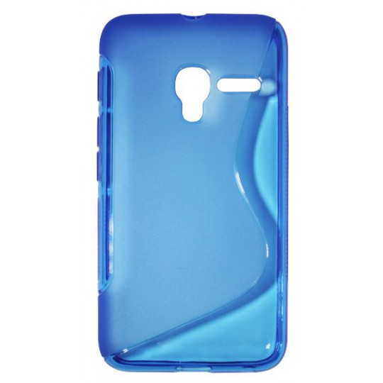 Alcatel Pixi 3 4.0 - Gumiran ovitek (TPU) - modro-prosojen SLine