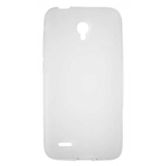 Alcatel Go Play - Gumiran ovitek (TPU) - belo-prosojen mat