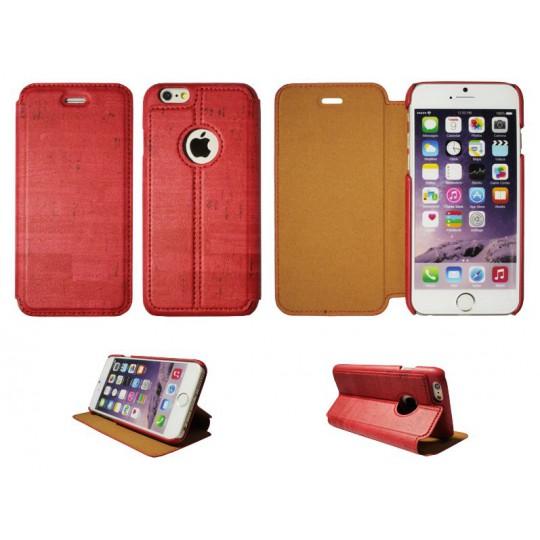 Apple iPhone 6/6S - Preklopna torbica (88) - svetlo rdeča