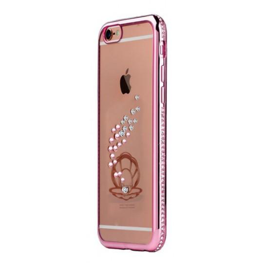 Apple iPhone 6/6S - Gumiran ovitek (TPUD) - roza školjka