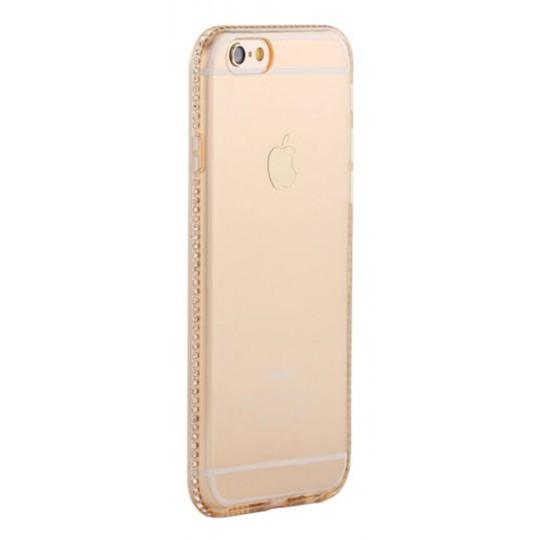 Apple iPhone 6/6S - Gumiran ovitek (TPUD) - rob oranžen