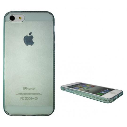 Apple iPhone 5/5S/SE - Gumiran ovitek (TPUD) - rob zelen