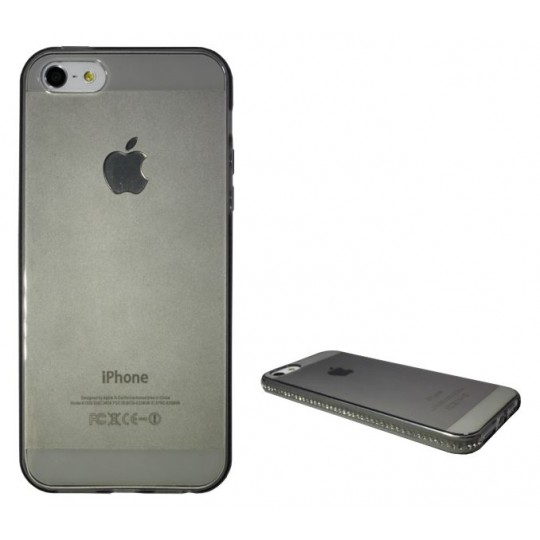 Apple iPhone 5/5S/SE - Gumiran ovitek (TPUD) - rob siv
