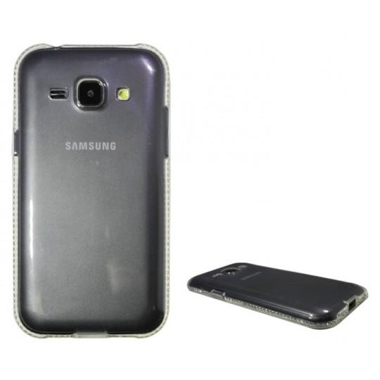 Samsung Galaxy J1 - Gumiran ovitek (TPUD) - rob bel