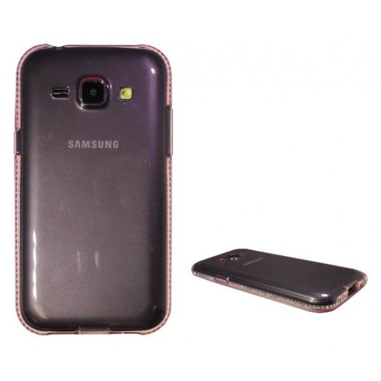 Samsung Galaxy J1 - Gumiran ovitek (TPUD) - rob roza