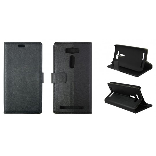 Asus Zenfone 2 Laser ZE500KL - Preklopna torbica (WL) - črna