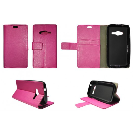Samsung Galaxy Trend 2 Lite/Trend 2/S Duos 3 - Preklopna torbica (WLG) - roza