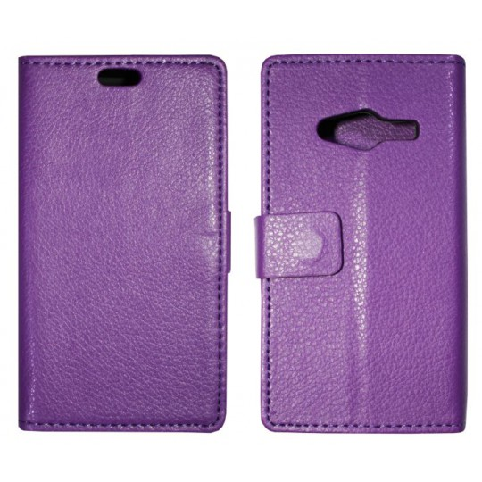 Samsung Galaxy Trend 2 Lite/Trend 2/S Duos 3 - Preklopna torbica (WLG) - vijolična