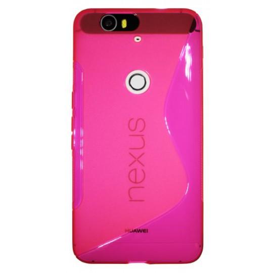 Huawei Nexus 6P - Gumiran ovitek (TPU) - roza-prosojen SLine