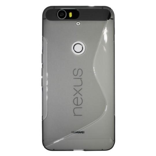 Huawei Nexus 6P - Gumiran ovitek (TPU) - sivo-prosojen SLine