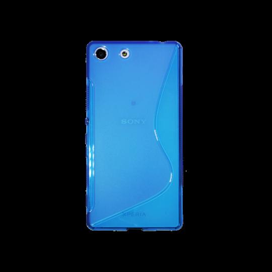 Sony Xperia M5 - Gumiran ovitek (TPU) - modro-prosojen SLine